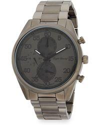 English Laundry - Gunmetal-tone Stainless Steel Bracelet Watch - Lyst