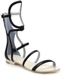 DANNIJO - Isla Geometric Leather Gladiator Sandals - Lyst