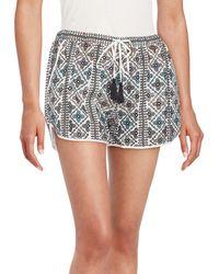 Love Sam - Makayla Beaded Shorts - Lyst