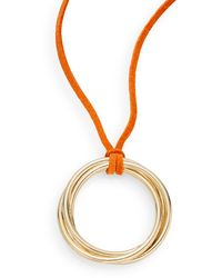 R.j. Graziano - Suede Ring Pendant Necklace - Lyst