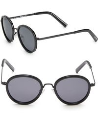 Joe's - 49mm Round Sunglasses - Lyst