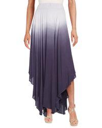 Cirana - Ombre Handkerchief Hem Maxi Skirt - Lyst