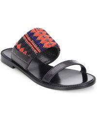 DANNIJO - Nella Beaded Leather Sandals - Lyst