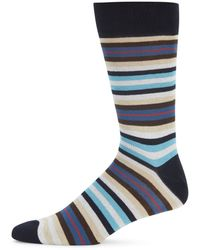 Saks Fifth Avenue - Multistriped Combed Cotton-blend Socks - Lyst