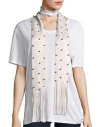 Steve Madden - Bauble Studded Scarf - Lyst