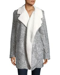 C&C California - Relaxed Faux Fur-trimmed Coat - Lyst