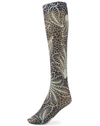 Dries Van Noten - Fern Print Mesh Socks - Lyst