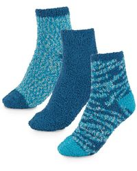 Ellen Tracy - Three-pack Solid & Patterned Ankle Socks - Lyst