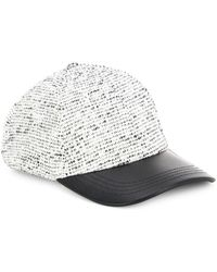 Vince Camuto - Textured Baseball Hat - Lyst