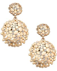 ABS By Allen Schwartz - Pavé Double Drop Earrings - Lyst