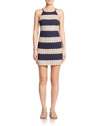 Lilly Pulitzer - Annabelle Lace-panel Shift Dress - Lyst
