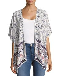 Bindya - Open-front Printed Cape - Lyst