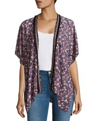 Bindya - Floral-print Open-front Cape - Lyst