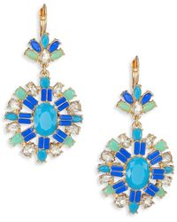 ABS By Allen Schwartz - Jewelled Pendant Drop Earrings - Lyst