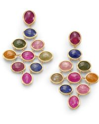 Marco Bicego - Siviglia Multicolour Sapphire & 18k Yellow Gold Drop Earrings - Lyst