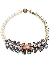 Tataborello - Crystal Studded Butterfly Necklace - Lyst