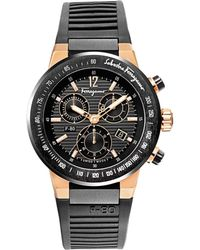 shop men s ferragamo watches from 480 lyst ferragamo mens f 80 two tone chronograph watch lyst
