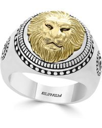 Effy - Gento Lion Sterling Silver Band Ring - Lyst