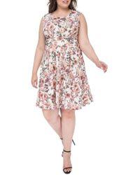 Bobeau - Skye Knit Plus Fit & Flare Dress - Lyst