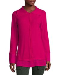 ESCADA - Long-sleeve Button-front Cashmere Top - Lyst