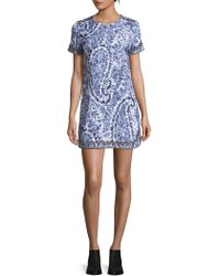 Robert Graham - Short Sleeve Mini Dress - Lyst