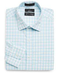 Saks Fifth Avenue Black Label - Classic-fit Windowpane Dress Shirt - Lyst