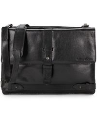 Kenneth Cole Reaction - Leather Strap Detailed Messenger Bag - Lyst