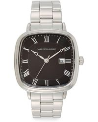 Saks Fifth Avenue - Square Stainless Steel Watch - Lyst