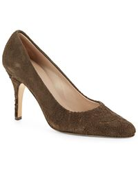 Helmut Lang - Distressed Suede Court Shoes - Lyst