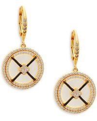 Freida Rothman - Round Sterling Silver Drop Earrings - Lyst