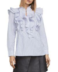 BCBGMAXAZRIA - Allexandria Ruffle Shirt - Lyst
