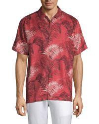 Tommy Bahama - Football Fez Fronds Silk Shirt - Lyst