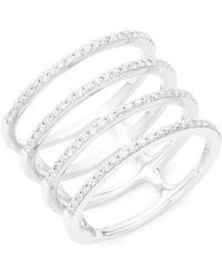EF Collection - Spiral Diamond & 14k White Gold Ring - Lyst