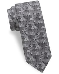 Saks Fifth Avenue - Tropical Flower Silk Tie - Lyst
