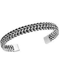 Effy - 0.925 Sterling Silver Woven Cuff Bangle - Lyst