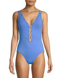 La Blanca - One-piece Cross Back Mio Swimsuit - Lyst