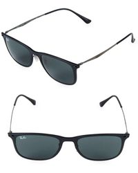 3db87b65e2 Lyst - Ray-Ban Rb8351 Black Oval Sunglasses in Black for Men