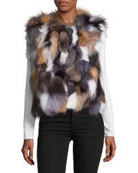 Surell - Dyed Fox Fur Sleeveless Vest - Lyst