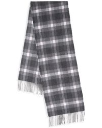 Saks Fifth Avenue - Plaid Cashmere Scarf - Lyst