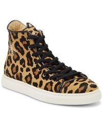 Charlotte Olympia - Purrrfect Cat-embroidered Leopard Calf Hair Sneakers - Lyst