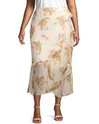 Vince Camuto - Plus Paisley-print Ruffled Wrap Skirt - Lyst
