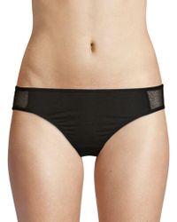 Skin Organic - Mesh-trimmed Bikini Panty - Lyst