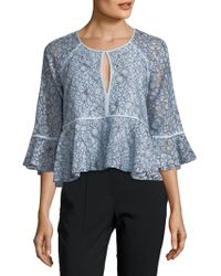 Likely - Avers Lace Peplum Top - Lyst