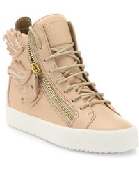 6bc897c8de98 Lyst - Jeremy Scott for adidas Winged Floral High-Top Sneakers in Gray