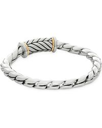 Saks Fifth Avenue - Mariner 14k Gold And Stainless Steel Bracelet - Lyst