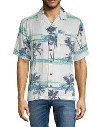 Standard Issue - Tropical-print Button-down Camp Shirt - Lyst