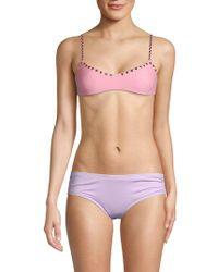 Same Swim - Studded Bikini Top - Lyst