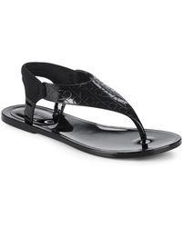 bc5688474e44 Calvin Klein - Janny Rubber Thong Sandals - Lyst