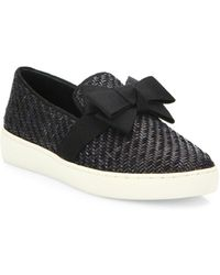 Michael Kors - Val Woven Bow Skate Sneakers - Lyst