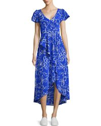Tracy Reese - Cascade Printed Hi-lo Dress - Lyst